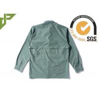 Best Olive Green Military Style Shirts For Police Department / Army Scratch Resistant wholesale