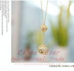 Best golden little ball necklace/metal accessoris for women wholesale
