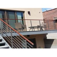 China CE Stainless Steel Balustrade Systems Porch Stair Railing End Cap House Railing on sale