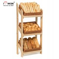 Best Retail Floor Standing Wooden Bread Display Stand For Bakery Store / Food Shops wholesale