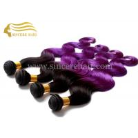 Best Hot Sell 55 CM Body Wave Purple Ombre Hair Extensions Weaving Weft for Sale wholesale