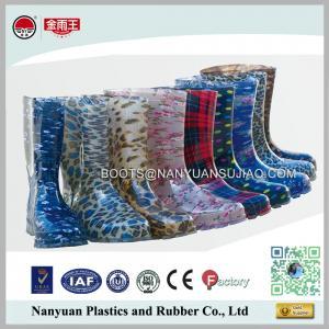 China 628 Cheap Wholesales PVC Cute Fashion Womans Waterproof Rain Gum Boots on sale