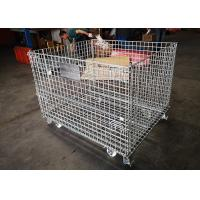 Buy cheap Folding Standard Size Galvanized Wire Mesh Cages Anti Oxidizing With Wheels from wholesalers