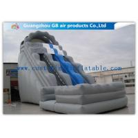 Best Kids / Adults Double Inflatable Water Slide With Small Pool For Summer Games wholesale