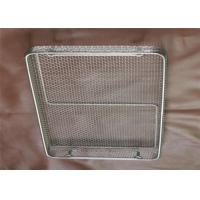 China Stainless Steel Wire Mesh Storage Baskets Plain Weaving Corrosion Resistance on sale