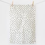 Best Pure cotton black polka dot print 60*85cm tea towel tea towel factory wholesale