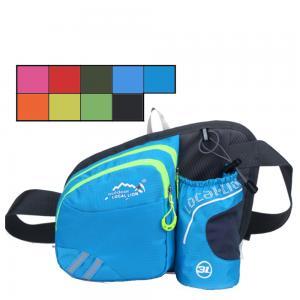 Best Outdoor sports belt waist bag with water bottle holder fanny pack zipper phone pouch Bum Bag wholesale