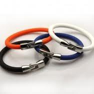 China Pure Titanium and Silicone Power Balance Bracelet Band for Reducing Inflammation on sale