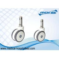 China Central Locking Medical Casters Bed Casters Wheels 45 Degree Cam Movement on sale