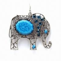 Best Fashionable Rostone Drop Earrings, Available in Various Colors wholesale
