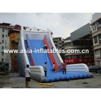 China Giant Inflatable Water Slide With Single Lane For Sand Beach Games on sale
