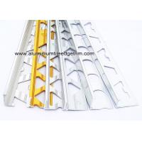 China Pre Polished Bright Chrome L Angle Aluminium Tile Edge Trim 6mm / 8mm / 10mm  / 12mm on sale