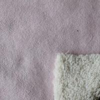 China Suede bonded fake fur with real fur's appearance and soft texture on sale