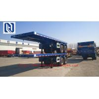 40 Foot High Flatbed Semi Truck Trailer 3 FUWA Axles For Carry Container Cement