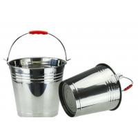 China 5 Gallon  Stainless Steel Water Bucket Food Grade Full Mirror Polished on sale