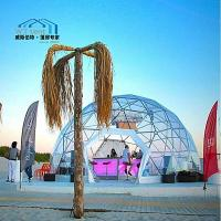 Best Transparent Geodesic Dome Tent Galvanized Tubes Outside Hotel House Use wholesale