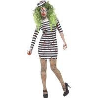 Buy cheap Halloween Police Party Adult Costumes Zombie Jail Bird Convict Girl from wholesalers