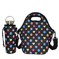 Best High level outdoor picnic insulated neoprene lunch tote with water bottle cover.Size:30cm*30cm*16cm wholesale