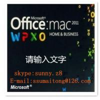 China Microsoft Office Utility Software MAC 2011 Home & Business FPP Code Online Send on sale