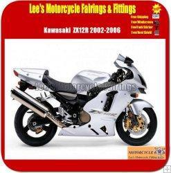 Best Kawasaki Ninja ZX12R 2002-2004 White Sport Bike Fairings wholesale