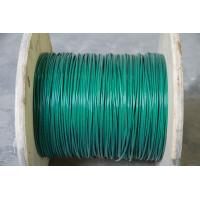 China Green 3mm 304 PVC Coated Stainless Steel Wire Rope 7x7 With BS / ASTM / JIS on sale