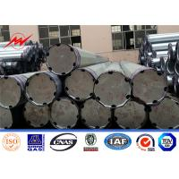 China Distribution Steel Tubular Tower Pole / Galvanized Metal Pole For Electric Industry on sale