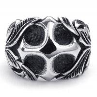 Best Tagor Jewelry Super Fashion 316L Stainless Steel Casting Rings Collection PXR034 wholesale