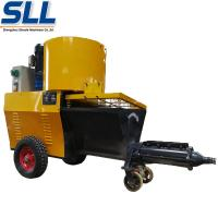 China Automatic Exterior Wall Plastering Machine Cement Rendering Machine In Yellow on sale