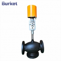 Best Three way Flange type Electric Control Valve for Heat Oil Transfer Heat water wholesale