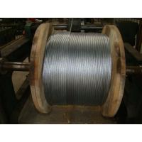 China 3/8 Galvanized Steel Wire Strand , Galvanized Guy Wire On Reel Packing on sale