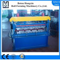 Best Trapezoidal Roofing Sheet Forming Machine , PLC Control Metal Roofing Machine wholesale