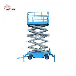 Best Vertical Electric Mobile Scissor Lift / Scaffolding Aerial Lift Work Platform wholesale