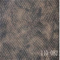Best snake skin pu leather for man shoe and bag with 0.90mm woven backing wholesale