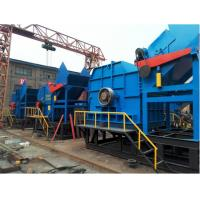 China Single Shaft Steel Shredder Machine / Waste Plastic Crusher Machine Low Power Consumption on sale