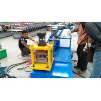 Best Blue Metal Roll Shutter Door Forming Machine With 4kw Hydraulic Cutting wholesale