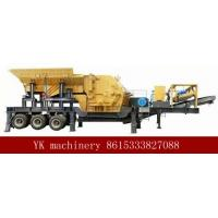 Best Mobile Portable Stone Crusher Machine Double Deck Feeder Convenient Operation wholesale