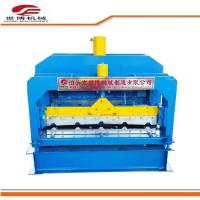 Best Roof Tile Trapezoidal Sheet Roll Forming Machine With Hydraulic Cutter 1 Year Warranty wholesale