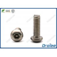 304/316 Stainless Steel Button Head Pin-in Hex Tamper Resistant Screw