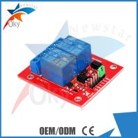 China 8cm x 8cm x 5cm Red Board For Arduino , 5V / 12V 2 Channel Relay Module on sale