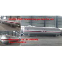 China High quality and best price ASME standard lpg gas storage tank for sale, Factory sale ASME stamped 30,000L propane tank on sale