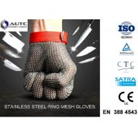 Best Stainless Steel PPE Safety Gloves , Protective Cutting Gloves Mesh Convenient Cleaning wholesale