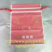 China Moisture Proof Red Frosted Printed Drawstring Bags Fit Christmas Gift on sale