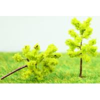 Best Railway Scenery Miniature Model Trees Yellow Green Avenue Planting Wire Tree 3.5cm wholesale