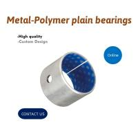 Best Metal-Polymer Plain Bearings Oil/Grease Lubricated Bushing With Blue POM Coated Self Lubricating Bearing wholesale