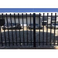 Powder Coated High Security Fence Systems Black Spear Pressed Fence Panels