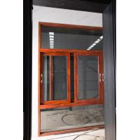 Best Red Brown Floor Large Glass Window With Aluminium Frame Horizontal Open wholesale