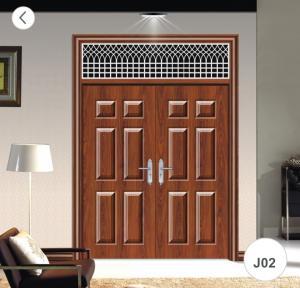 Best J02 Zinc Alloy Steel Twin Doors / Residential Steel Security Doors wholesale