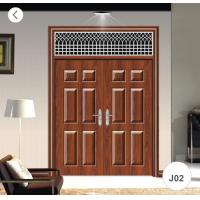 Best Residential Steel Security Doors / J02 Zinc Alloy Steel Twin Doors wholesale