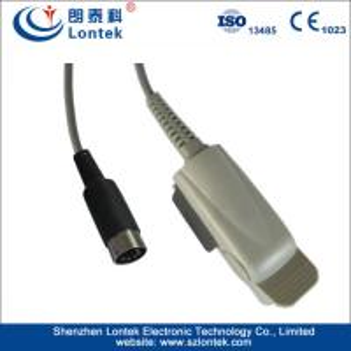 Cheap Masimo module Schiller Reusable Spo2 Sensor , Adult Finger Clip SpO2 Sensor for sale