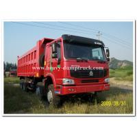 China Drive model 8X4 SINOTRUK 336 hp tipper truck / dump truck with HYVA Hdraulic lifting system on sale